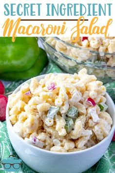 5 ☆ X The Best Macaroni Salad recipe starts with macaroni noodles, peppers, onions and rasishes and is mixed with a secret-ingredient creamy dressing! Easy Soup Recipes, Pasta Salad Recipes, Dinner Recipes, Cooking Recipes, Recipes With Macaroni Noodles, Kraft Recipes, Chicken Recipes, Classic Macaroni Salad, Best Macaroni Salad
