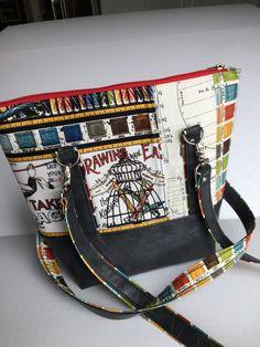 Classic Carry All Handbag, J Wecker Frisch, Draws Near, Shoulder Bag, Art Palette by JazzyJoDesigns on Etsy