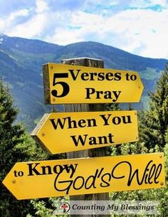 5 Verses to Pray when You Want to Know God's Will - Counting My Blessings