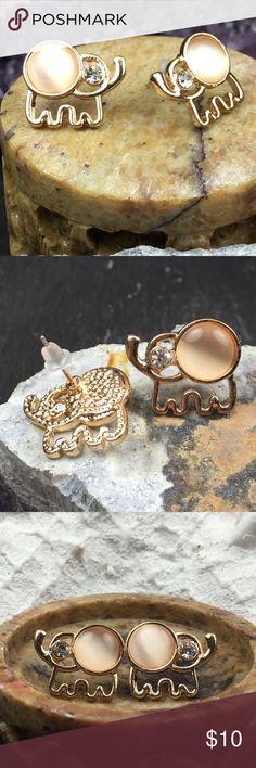 Baby Elephant Earrings Brand New. Stud earrings. Gold toned. Rubber backings. Jewelry Earrings