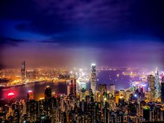 Hong Kong City from Lugard Road, Victoria Peak