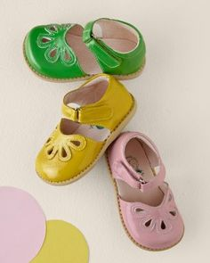 Livie & Luca Petal Mary Janes. We bought the turquoise & yellow pairs. Might need to buy the pink & green. lol