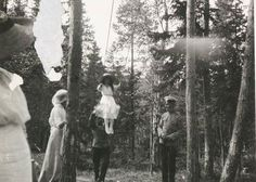 Grand Duchess of Russia Anastasia Romanova on the swings.