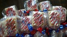 Captain America Rice Krispie Treats