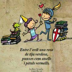 Bona Diada! Sant Jordi 2015 Saint George, Conte, Art For Kids, Saints, Books, Crafts, Fictional Characters, Armadillo, Messages