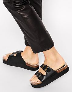 ASOS FUTURE Two Buckle Sandals