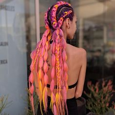 The Ultimate Coachella Hair Inspo is part of braids - Coachella is just weeks away, so it's time to plan your festival look! When it comes to hair, you can Box Braids Hairstyles, Cool Hairstyles, Wedding Hairstyles, Halloween Hairstyles, Quinceanera Hairstyles, Hairstyle Short, Protective Hairstyles, Protective Styles, Hair Inspo