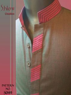 Gents Kurta Design, Boys Kurta Design, Kurta Neck Design, Churidhar Designs, Kurta Designs, Shirt Designs, Mens Shalwar Kameez, Kurta Men, Mens Ethnic Wear