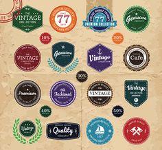Vector Vintage Label Sets 1: http://www.creativebeacon.com/2-vector-vintage-label-sets/?goback=%2Egde_95409_member_5794802407514857473#%21