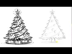 How to Draw a Christmas Tree - Things to Draw When You're Bored - YouTube