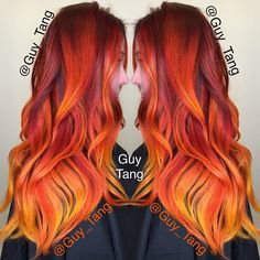 20 Shaded Hair At The Top Of Fashion You Will Definitely Love! Guy Tang is an artist hairdresser, very talented and specialized in the trend of shaded hair, this hairdresser star is based in Los Angeles and has an Vivid Hair Color, Ombre Hair Color, Hair Colors, Colours, Flame Hair, Brown Ombre Hair, Red Ombre, Guy Tang, Bright Hair