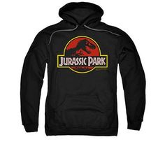 Jurassic Park Logo Black Pullover Hoodie