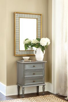 LIGHTEN UP A HALLWAY  Do you feel like you're entering a cave when you're walking down your hallway? Try hanging a large mirror near the end to bounce light into the hallway and brighten up the space. And if your hallway is particularly narrow, a long mirror on one wall will help create the illusion of a bigger space.
