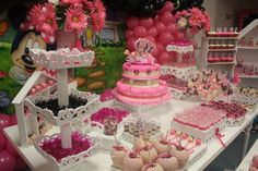 Pink Minnie mouse theme party.