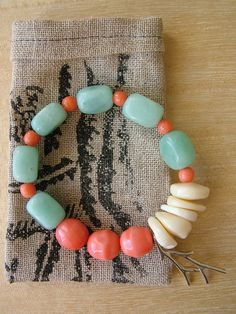 Coral Swim Bracelet by natureguild on Etsy, $25.00