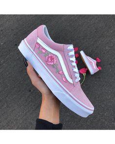 Rose Vans, Floral Vans, Floral Shoes, Shoe Game, Vans Custom, Custom a85bfff615