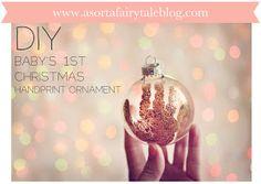 A Sorta Fairytale: DIY: baby's 1st Christmas ornament!