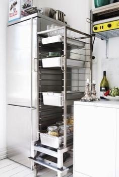 stalowe elementy wyposażenia kuchni