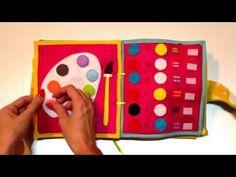 Quiet Book / Busy Book / Książeczka sensoryczna z filcu dla dzieci - YouTube