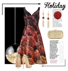 """Holiday Ball"" by conch-lady ❤ liked on Polyvore featuring Sonneman, Adrianna Papell, Gianvito Rossi, INC International Concepts, Ross-Simons, Gold Eagle, holiday and holidayball"