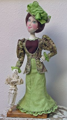 Miss Patience Paisley a Victorian Cloth Doll by nlhdesigns