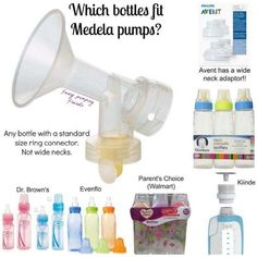 Great for breastfeeding AND pumping larger amounts. What bottles fit Medela pumps?