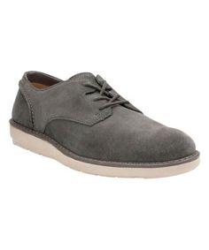 Dark Gray Fayeman Lace Suede Shoe #zulily #zulilyfinds