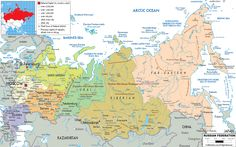 Political Map of Russia - Ezilon Maps !! |  ▼ ✂ 20160707,1245