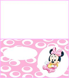 Baby Minnie Mouse Birthday Party Place Name Card