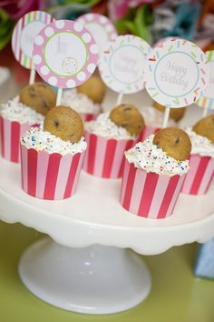 "Nothing says ""yummy"" like a cookie cupcake! #cupcake"