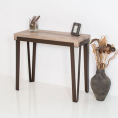 Consolle allungabile Rio in metallo e legno naturale fino a 300 cm