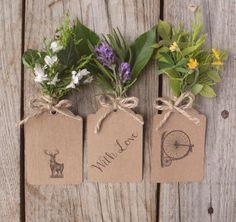 Brown Kraft tags, rustic and lovely for any occasion.