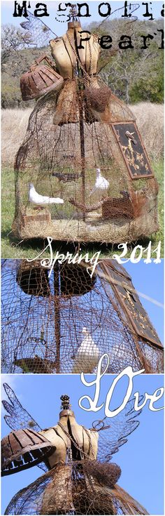 """Cover of Magnolia Pearl Spring 2011 Catalog. Wouldn't these """""""" look great in a garden?"""