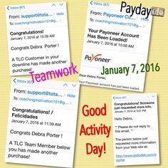 """January 7, 2016!! IT'S PAYDAY in TLC!! ☔️it's raining money, actually flooding some of TLC Reps bank accounts!! Shout out to my Team  #tlc #business #health #wellness #industry #weightloss #burnfat #tone #energy Join us http://bit.ly/JoinRepID3191211 """"Energize Your Life for Weight Loss Success Today!"""""""
