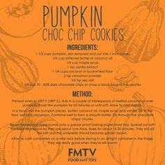 Thanks for showing the LOVE!  Why it's so good for you: These cookies are a great way to add extra vegetables into your diet. Pumpkin, sweet potato and beetroot all blend really well into desserts. You won't even notice them!  Watch the video tutorial here on FMTV: https://www.fmtv.com/watch/vegan-pumpkin-choc-chip-cookies