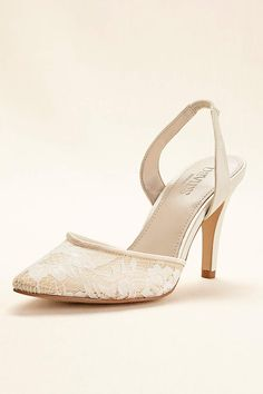ca2ba414ee48 Complete your bridal look with the perfect wedding shoes at David s Bridal.  Our bridal shoes