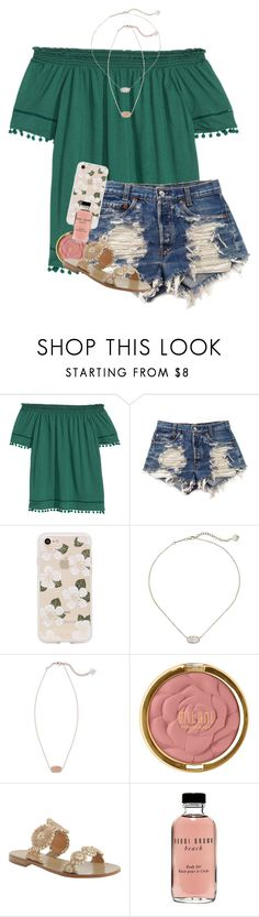 """"" by erinlmarkel ❤ liked on Polyvore featuring H&M, Levi's, Sonix, Kendra Scott, Milani, Jack Rogers and Bobbi Brown Cosmetics"