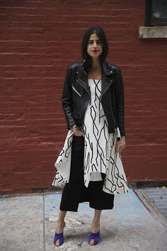 Young Blood | Man Repeller, Ellery printed skirt and black skirt worn with Malone Souliers shoes