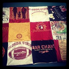 Florida State Homecoming blanket- great for all of those old FSU tshirts!!