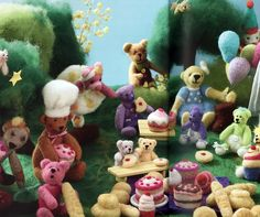 Teddy bears picnic! Needle Felting Kits, Felt Books, We Bear, Work With Animals, Create A Family, Teddy Bears, Cool Cats, Kittens Cutest, Newborn Photography