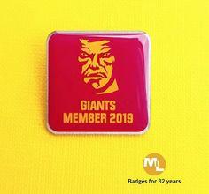 Striking Huddersfield Giants 2019 membership badge. Name Badges, Pin Badges, Make Your Own Badge, Custom Badges, Create, How To Make, Badges, Personalised Badges, Name Labels
