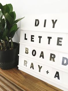 You've all seen the trendy letter boards and light boards from Letterfolk  and Heidi Swapp , and don't get us wrong, they're pretty awe...