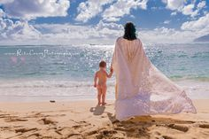 Reclaimed lace dress, mother and son, Hawaii, mama and me, beach