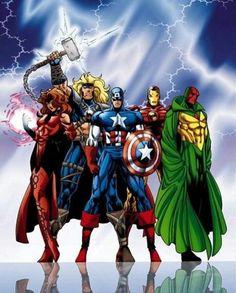 The avengers (marvel) Marvel Avengers, Marvel Comics Superheroes, Marvel Art, Marvel Heroes, Marvel Characters, Disney Marvel, Comic Books Art, Comic Art, Book Art