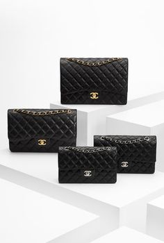 Different sizes of Chanel iconic bags