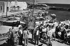 Greece Pictures, Paros, Athens Greece, Vintage Pictures, Historical Photos, Black And White, World, Painting, Memories