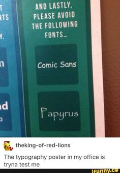 BUT THOSE ARE THE BEST FONTS!!!