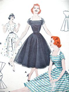 Vintage 50s Butterick Sewing Pattern 7308.