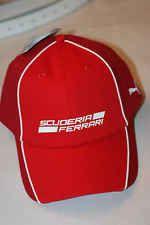 PUMA SCUDERIA FERRARI LIFE STYLE CAP RED WHITE*NEW* 2014 ADJUSTABLE CLASP