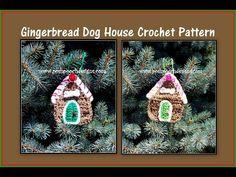 Posh Pooch Designs Dog Clothes: Gingerbread Dog House Ornament Crochet Pattern | Posh Pooch Designs
